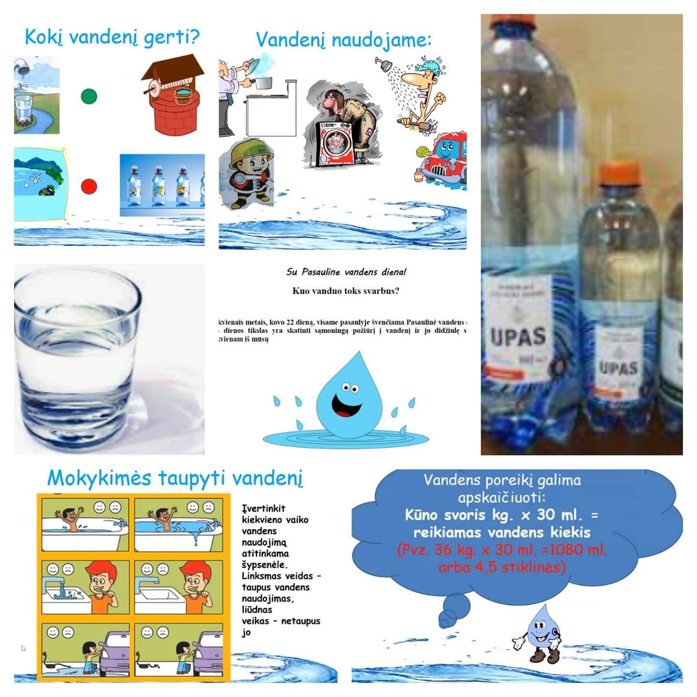 5c klasės mokiniai minėjo Pasaulinę vandens dieną