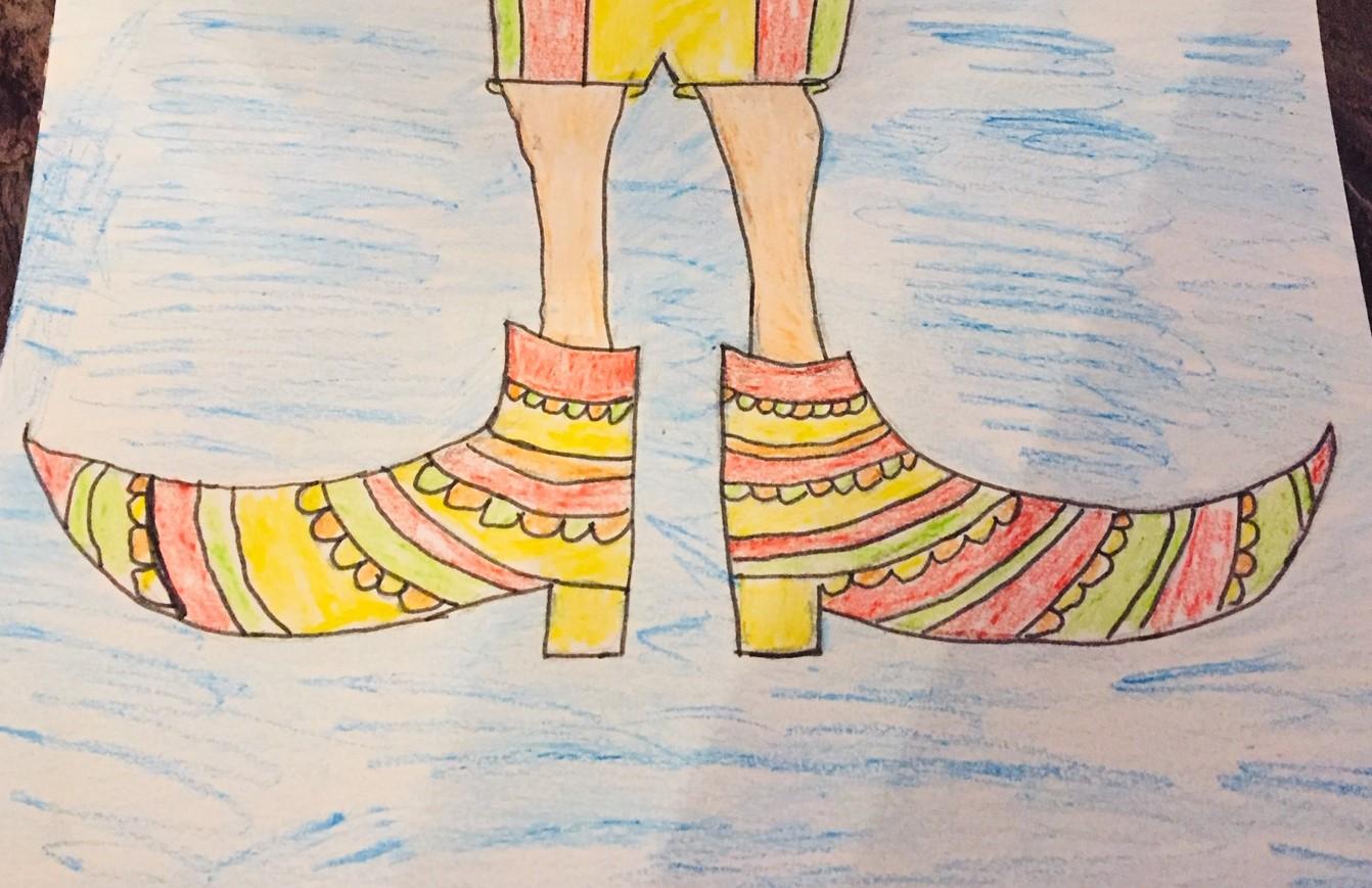 """""""Stebuklingi senelio batai"""" vaikų piešiniuose"""